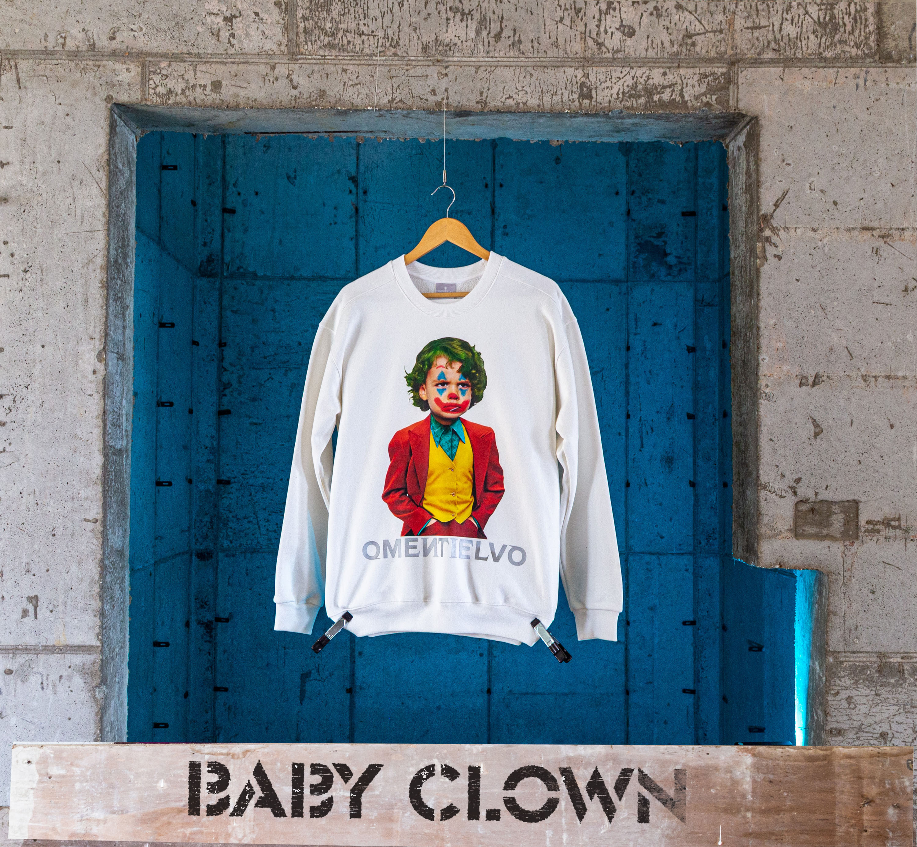 [Sweat Shirt]  White_BABY CLOWN