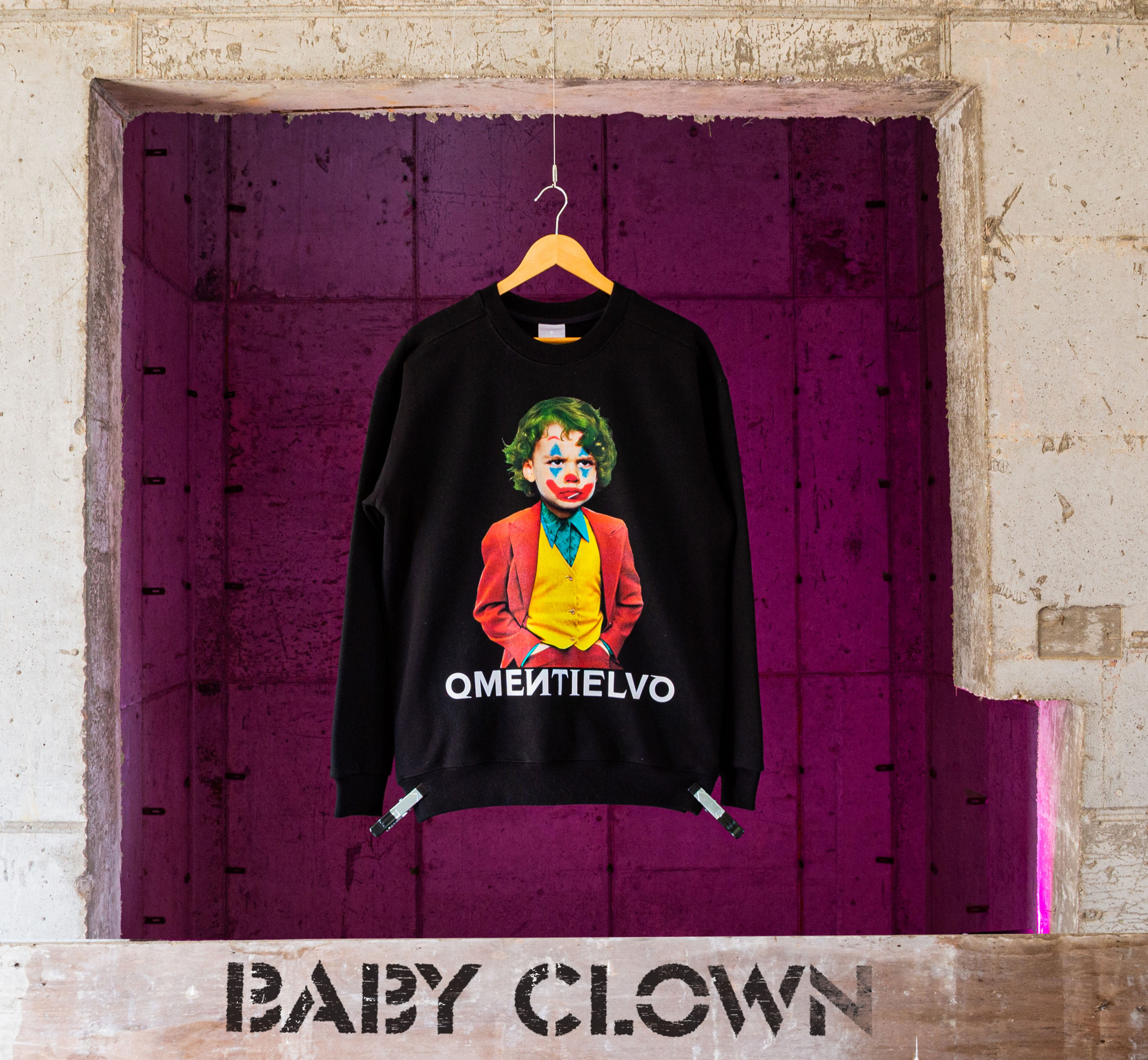 [Sweat Shirt]  Black_BABY CLOWN